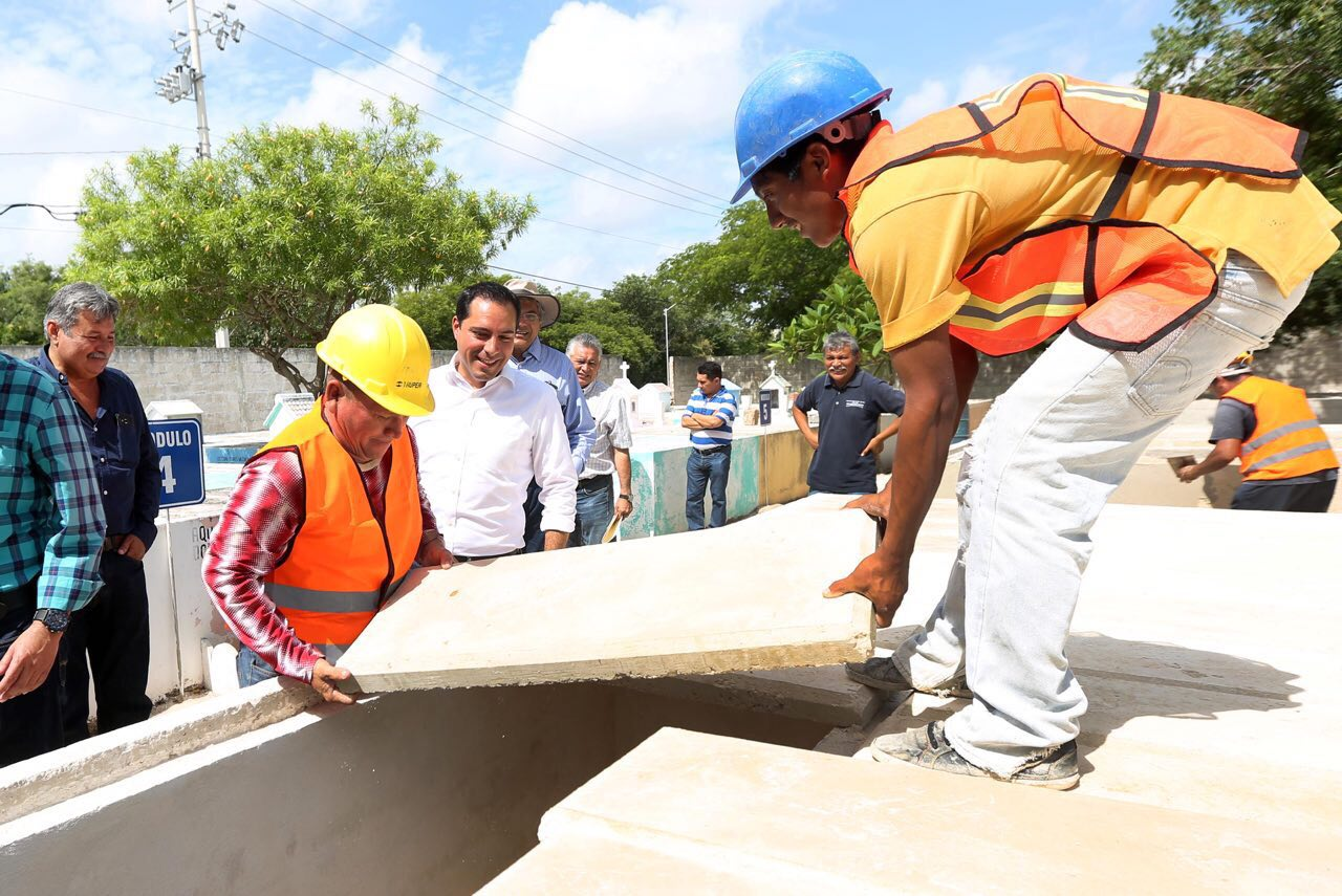 Construyen 100 nuevas bóvedas en Cementerio de Chuburná