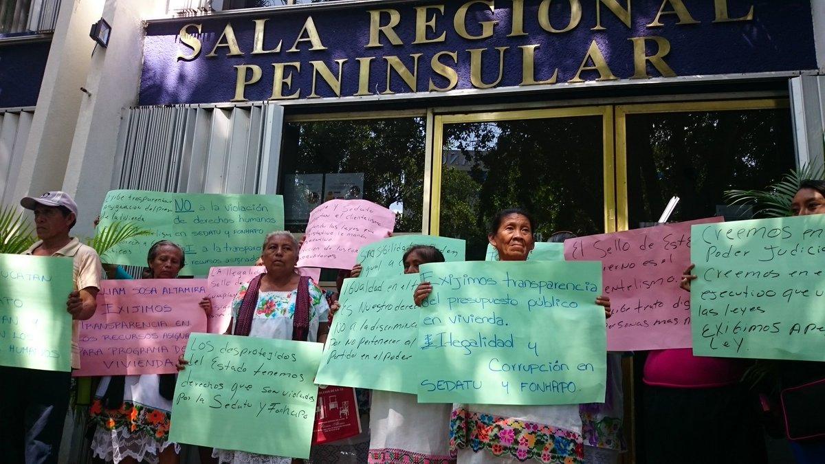 """Protestan por """"fraude"""" de Sedatu en Yucatán"""