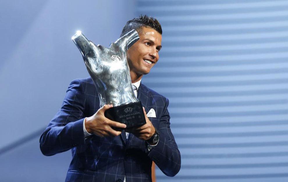 Cristiano Ronaldo, mejor jugador UEFA del año