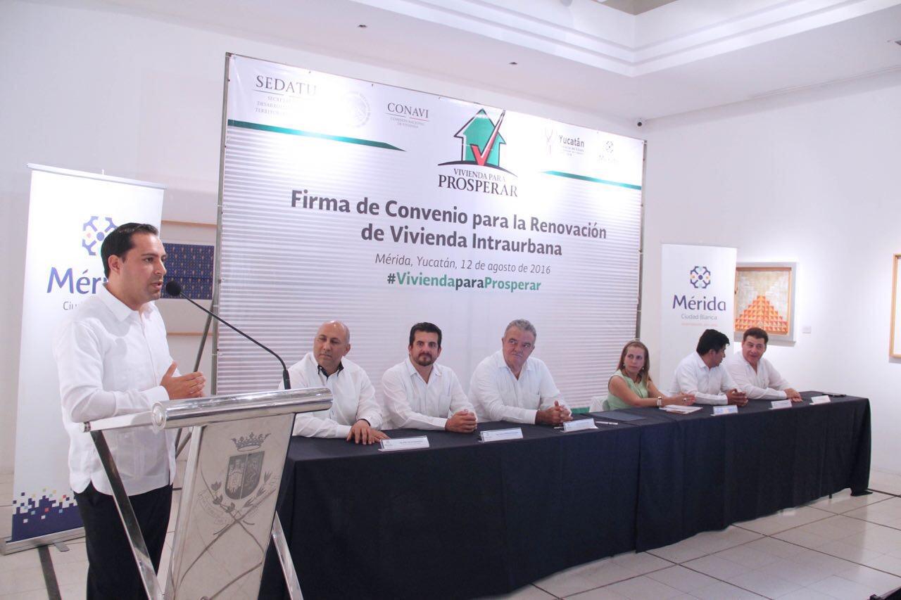 Histórico acuerdo para Renovación de la Vivienda Intraurbana en Mérida