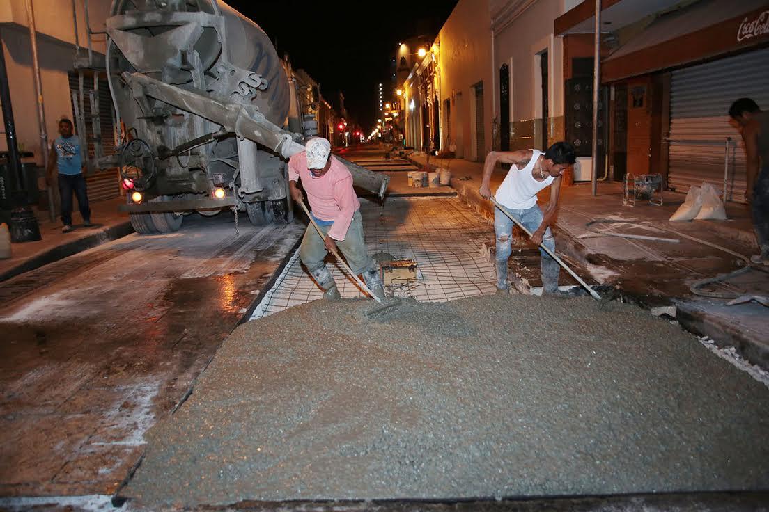 Avanzan a buen ritmo trabajos de mejoramiento del Centro Histórico