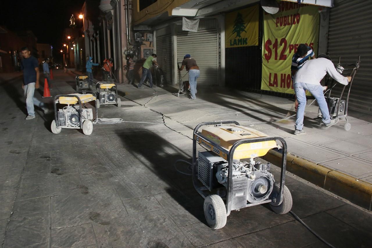 A 2 semanas de concluir trabajos en Centro Histórico de Mérida