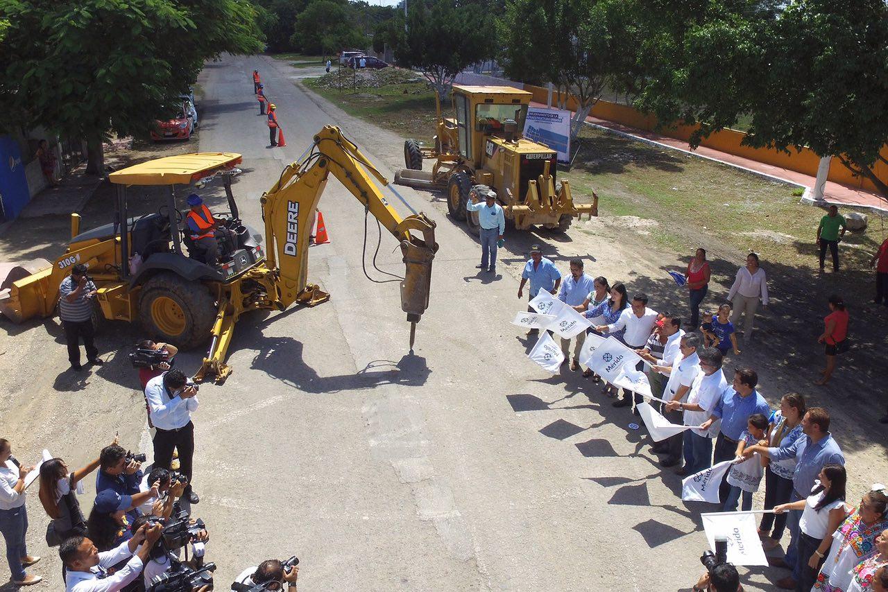 Modernización vial en Komchén