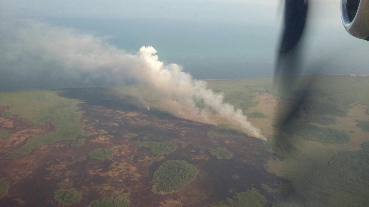 ¿Nuevo incendio o dos en uno entre Dzilam y San Felipe?