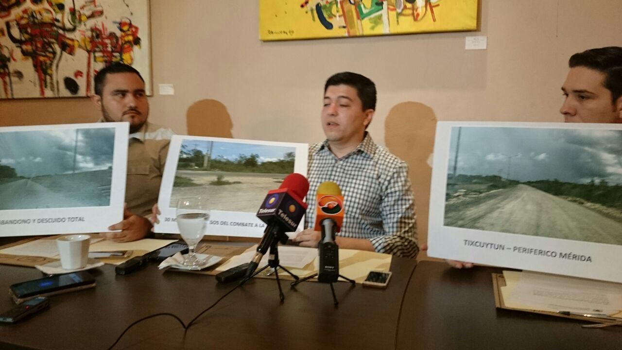Critican obra inconclusa al norte de Mérida
