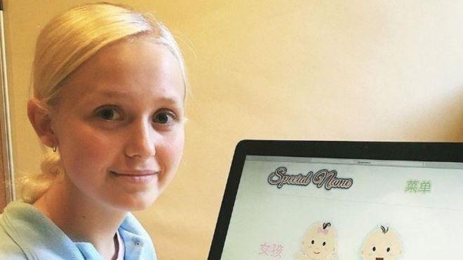 La niña que ganó miles de dólares poniendo nombres a bebés chinos