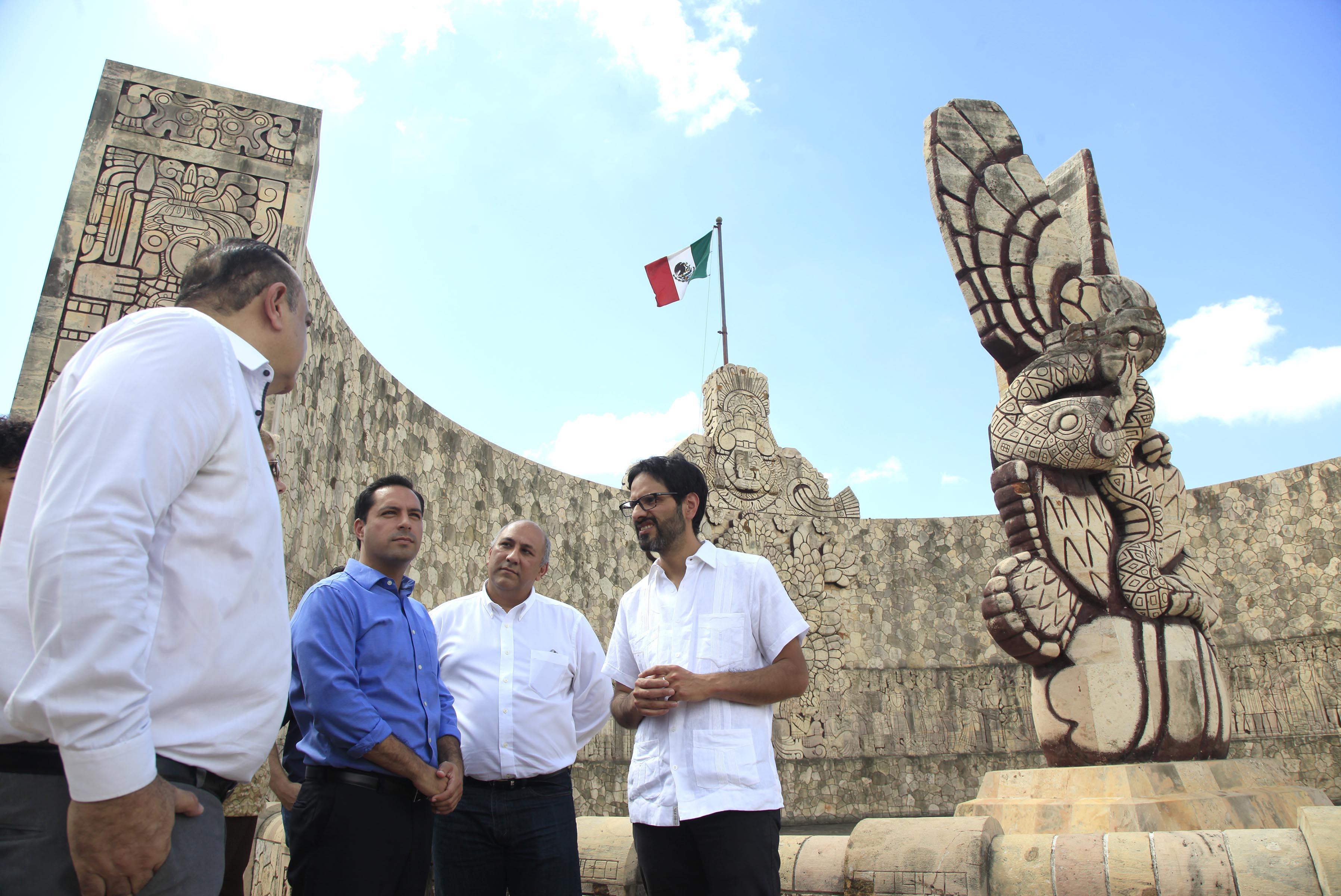 Restauración del Monumento a la Patria con casi 2 mdp