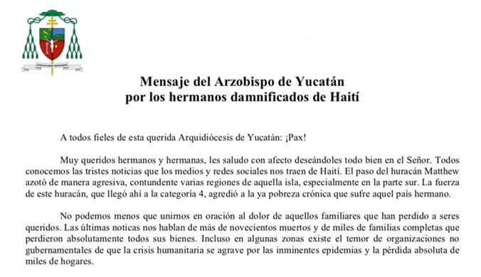 Promueven en Yucatán colecta para damnificados de Haití