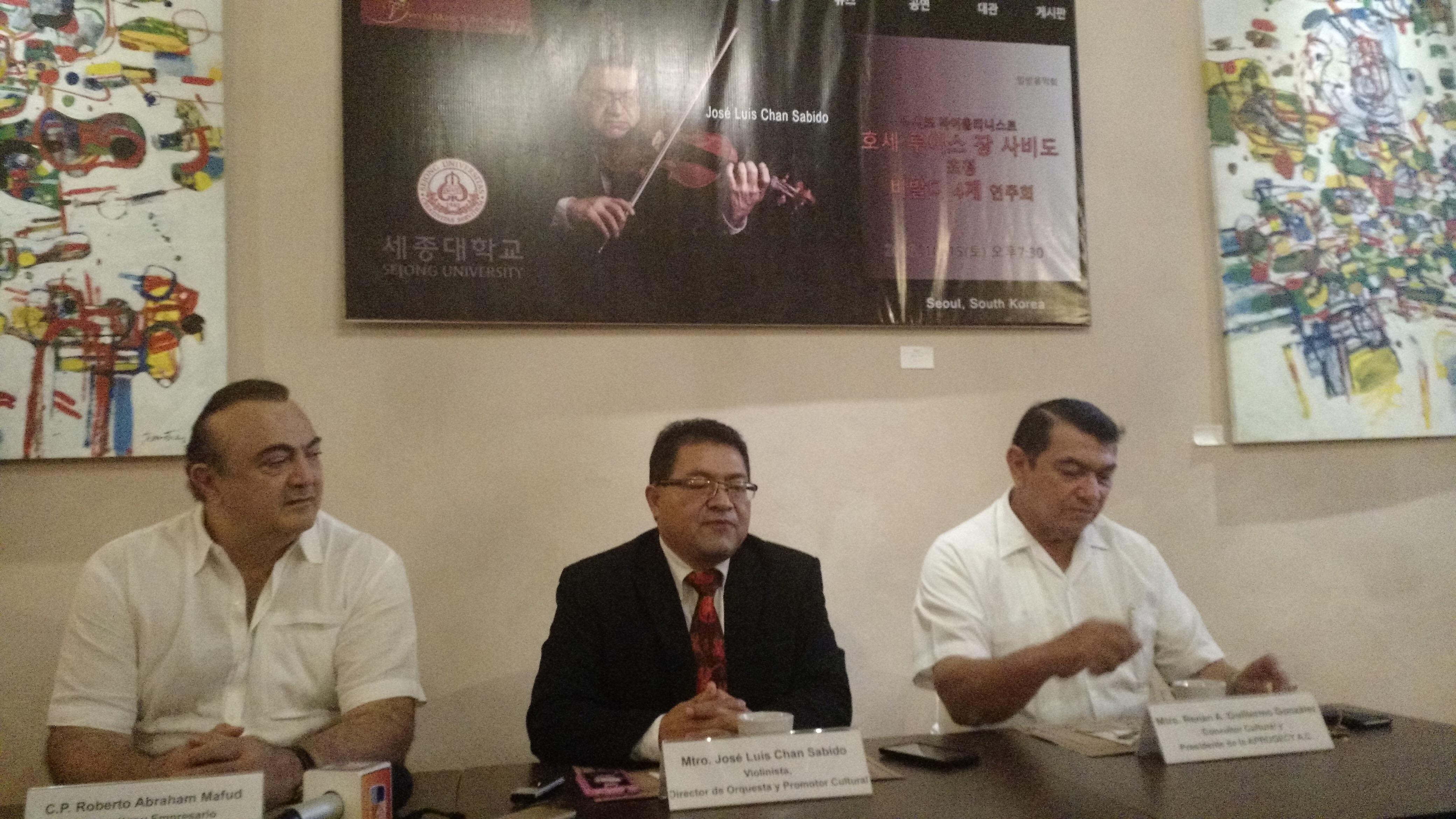 Violinista yucateco ofrecerá concierto en Corea del Sur