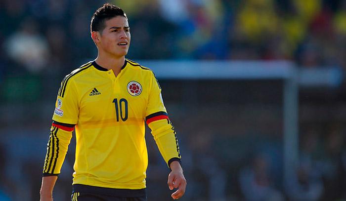 Colombia reporta baja de James para partido contra Uruguay