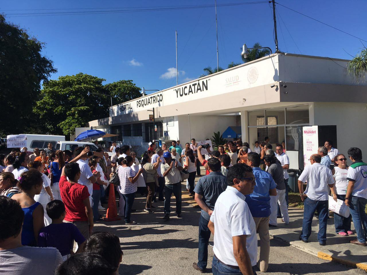 Presionan con protesta enHospital Psiquiátrico Yucatán