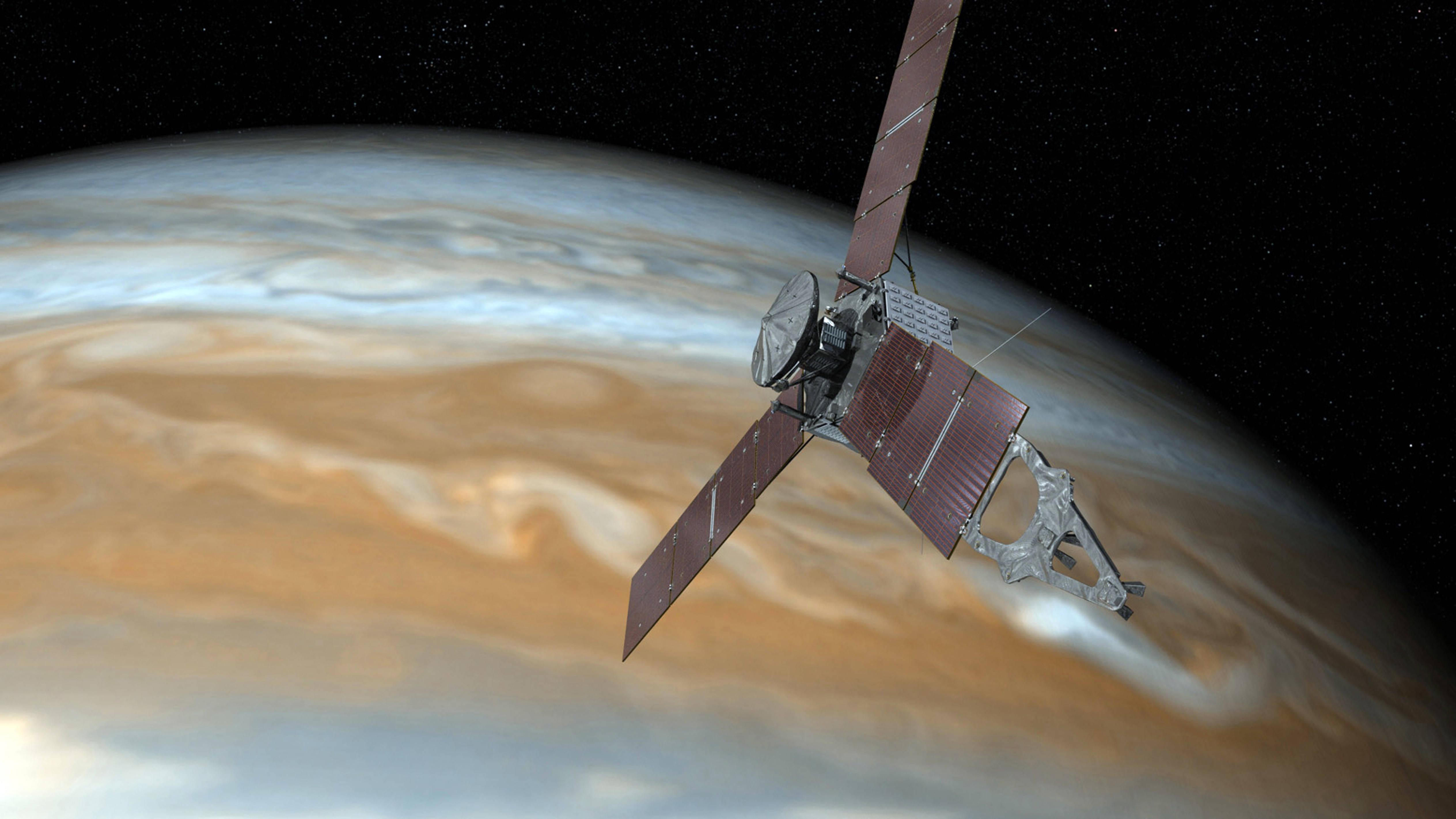 Juno, sonda espacial que orbita Júpiter presenta problema