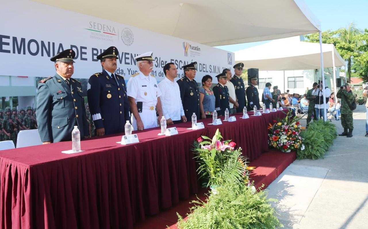 Participa Vila en ceremonia de servicio militar