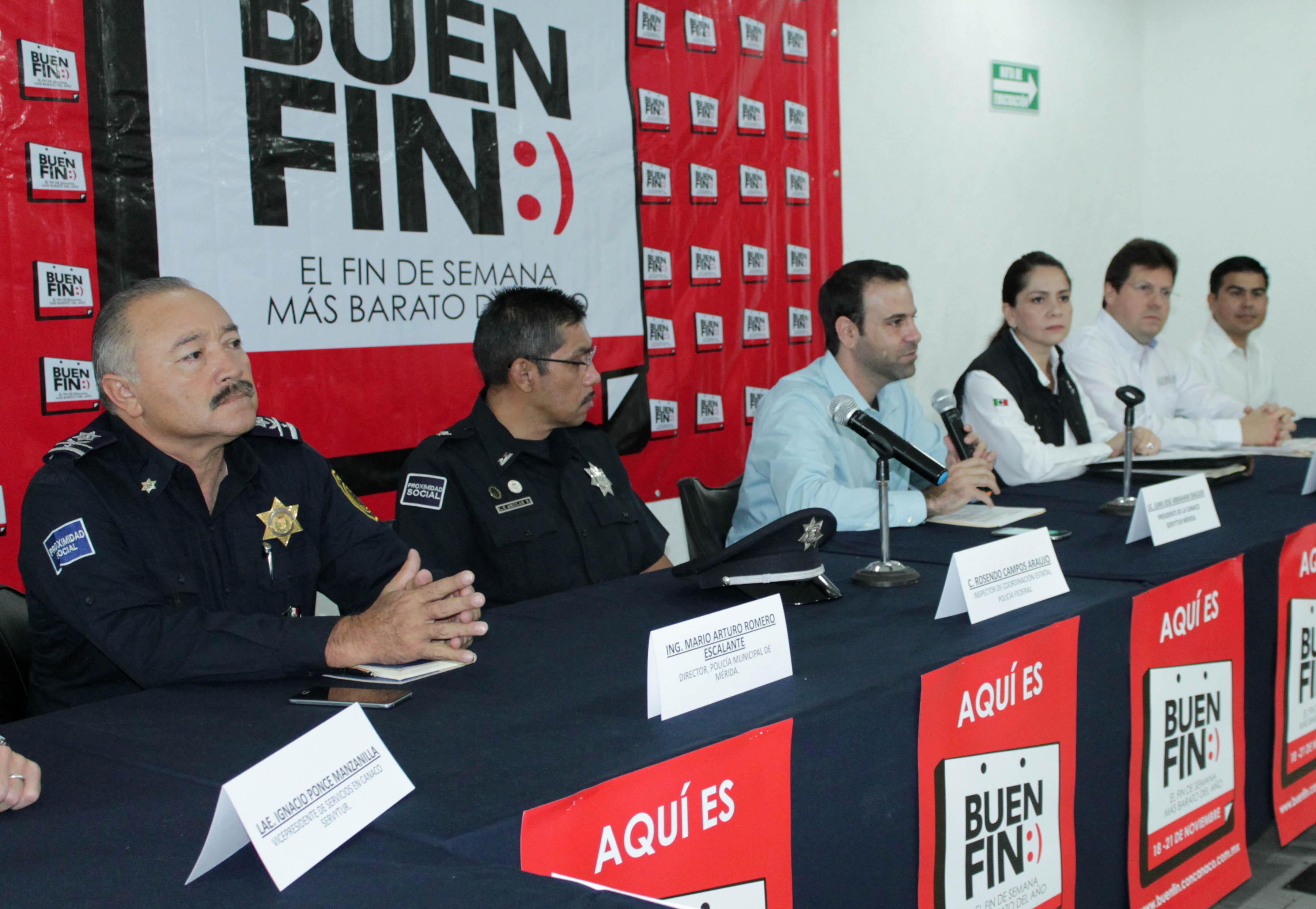 Armandespliegue policíaco en Yucatán por El Buen Fin