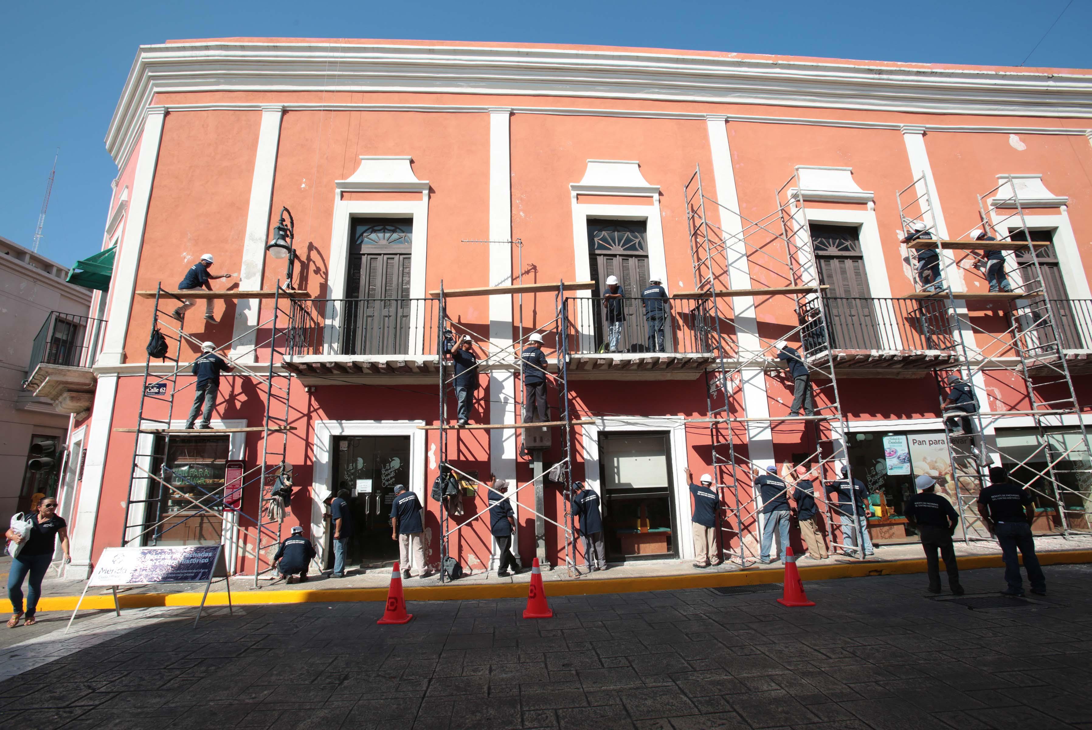Nueva fase de rescate de fachadas en Centro Histórico Mérida