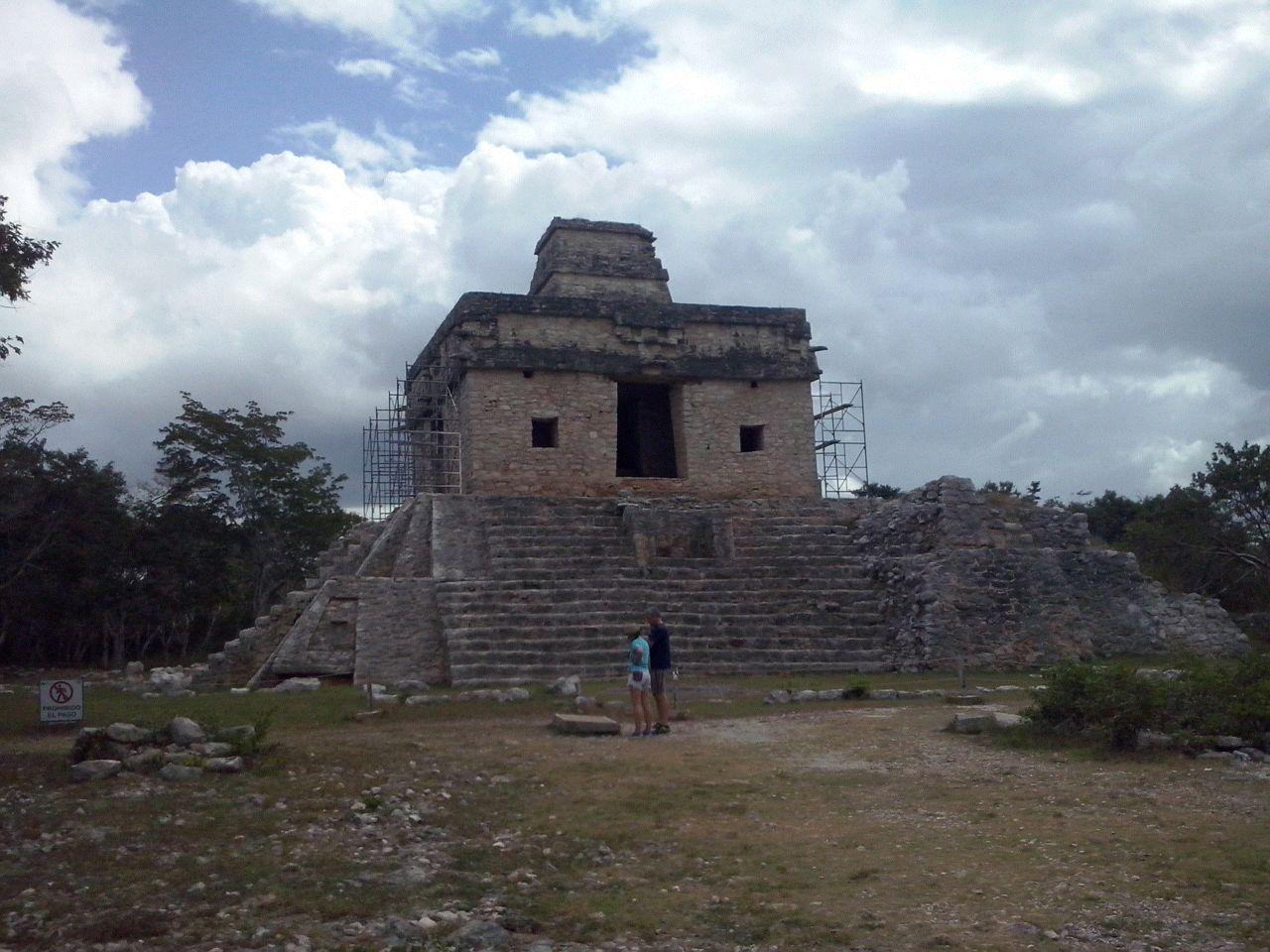 En virtual 'hundimiento' edificio maya en Dzibilchaltún