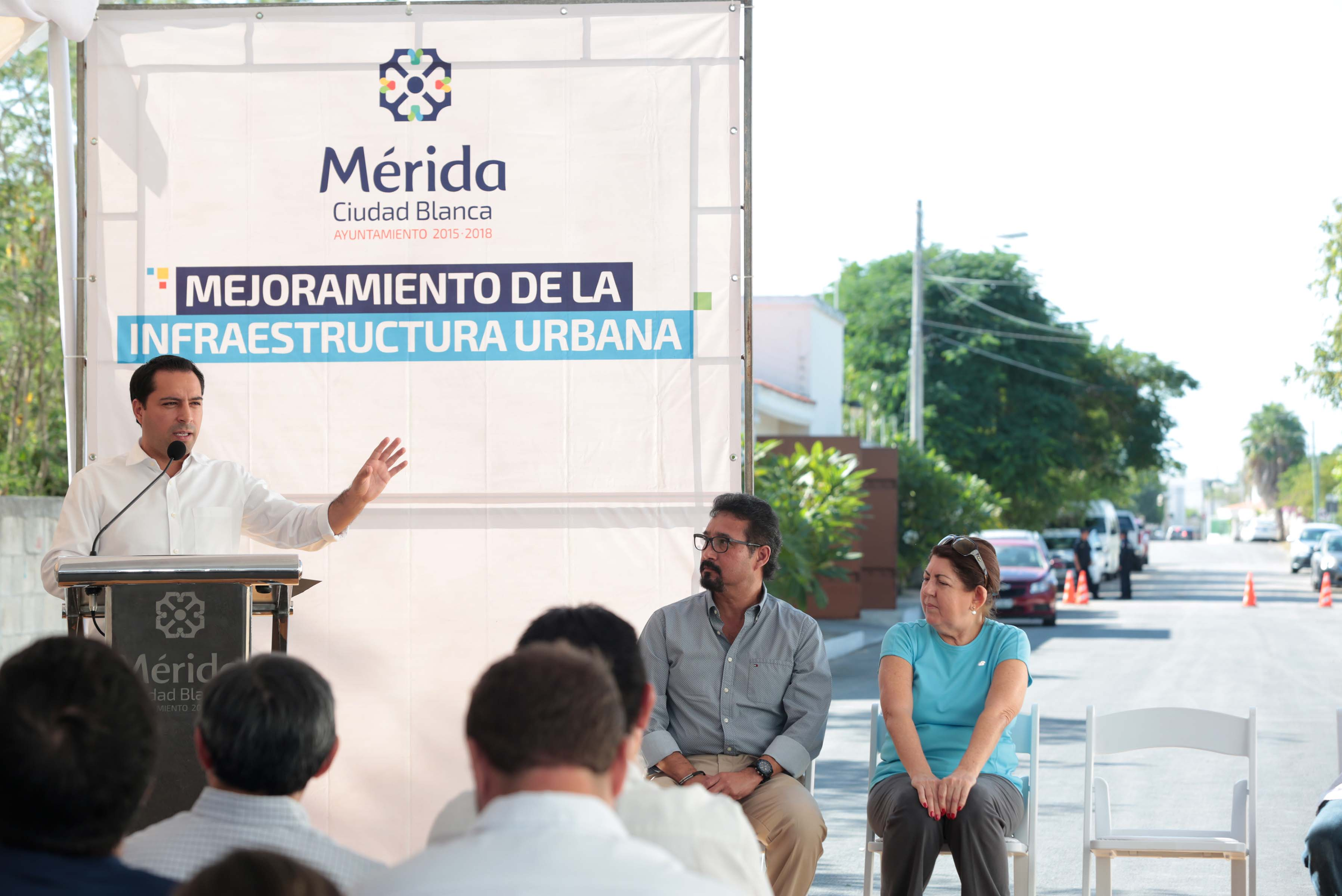 Inauguran 'par vial' para aliviar tránsito en Av. Andrés García Lavín