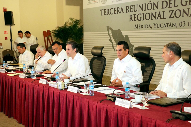 Nuño se reúne con gobernadores del sur-sureste