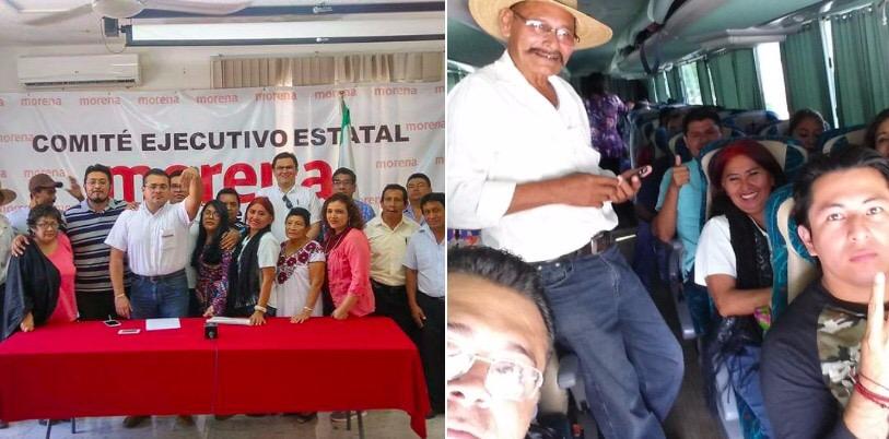 Delegados de Morena viajan a Congreso Nacional