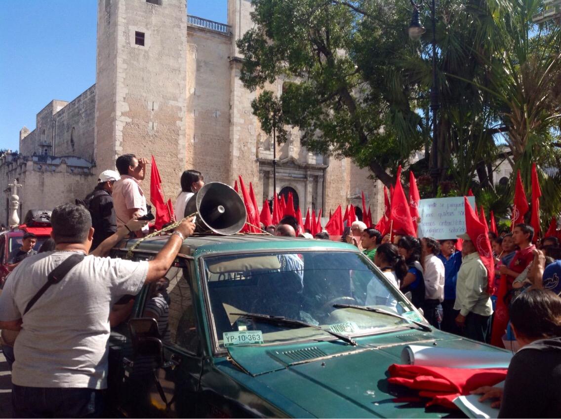 Reavivan protestas de Antorcha Campesina en Yucatán