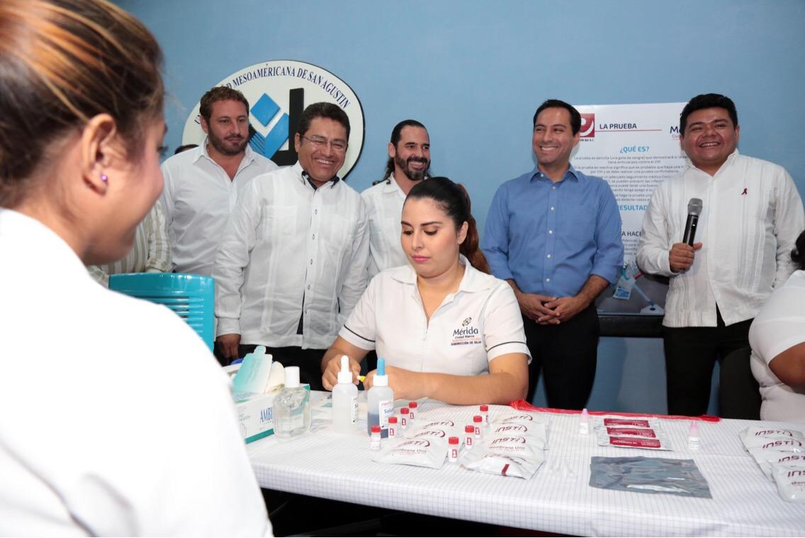 Renueva Mérida convenio de pruebas rápidas en VIH