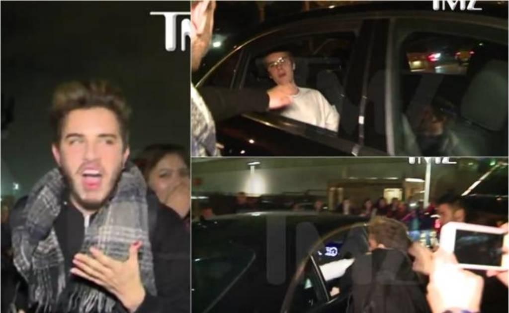 Justin Bieber golpea a joven en el rostro