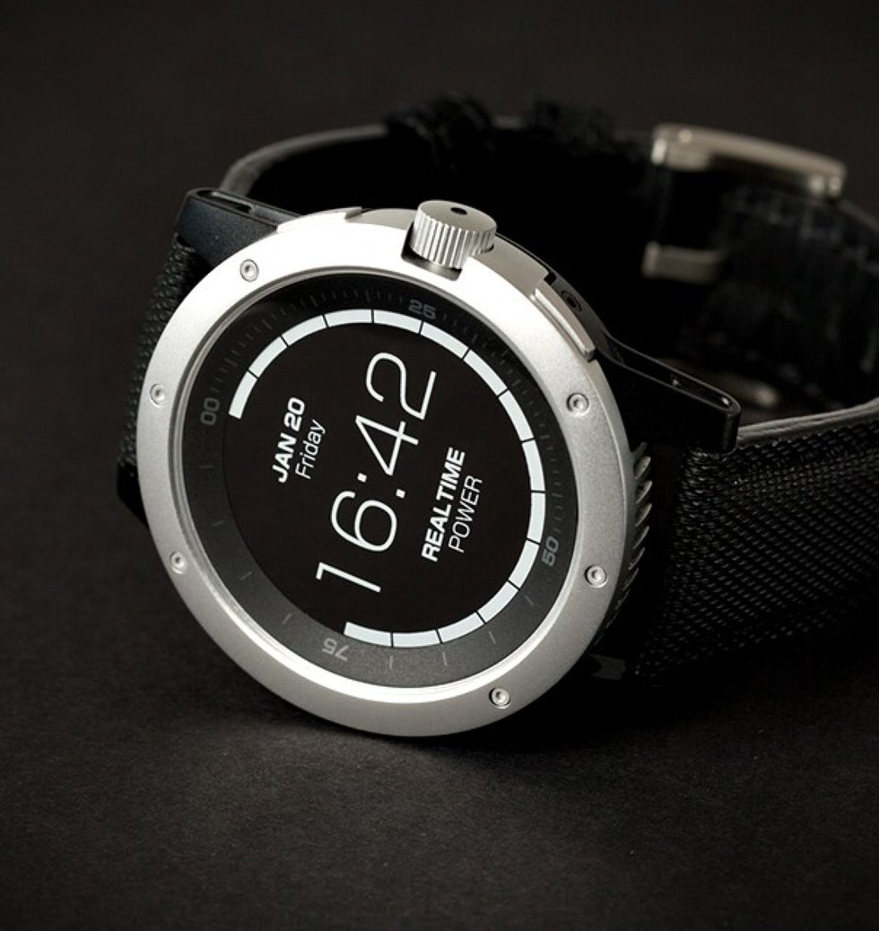 El reloj que carga con calor corporal