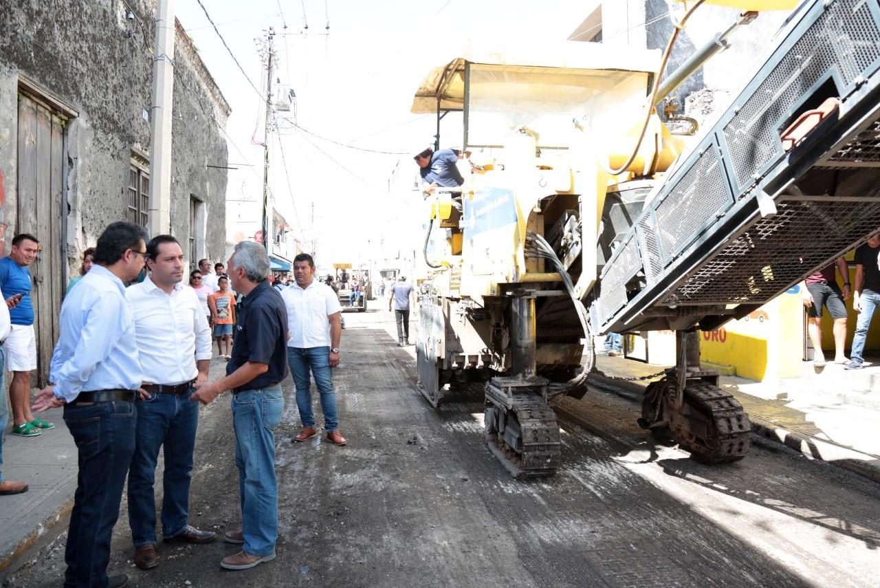 A repavimentación 10 kms en Centro Histórico de Mérida