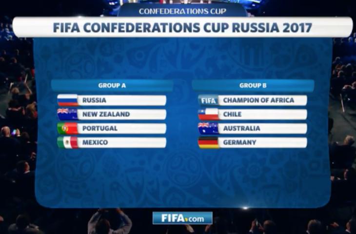 México jugará contra Portugal, Rusia y Nueva Zelanda en Grupo A