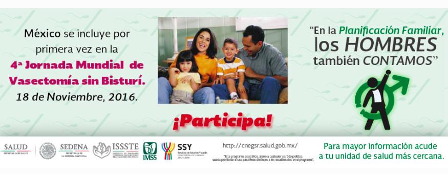 En Yucatán, jornadas de vasectomía sin bisturí