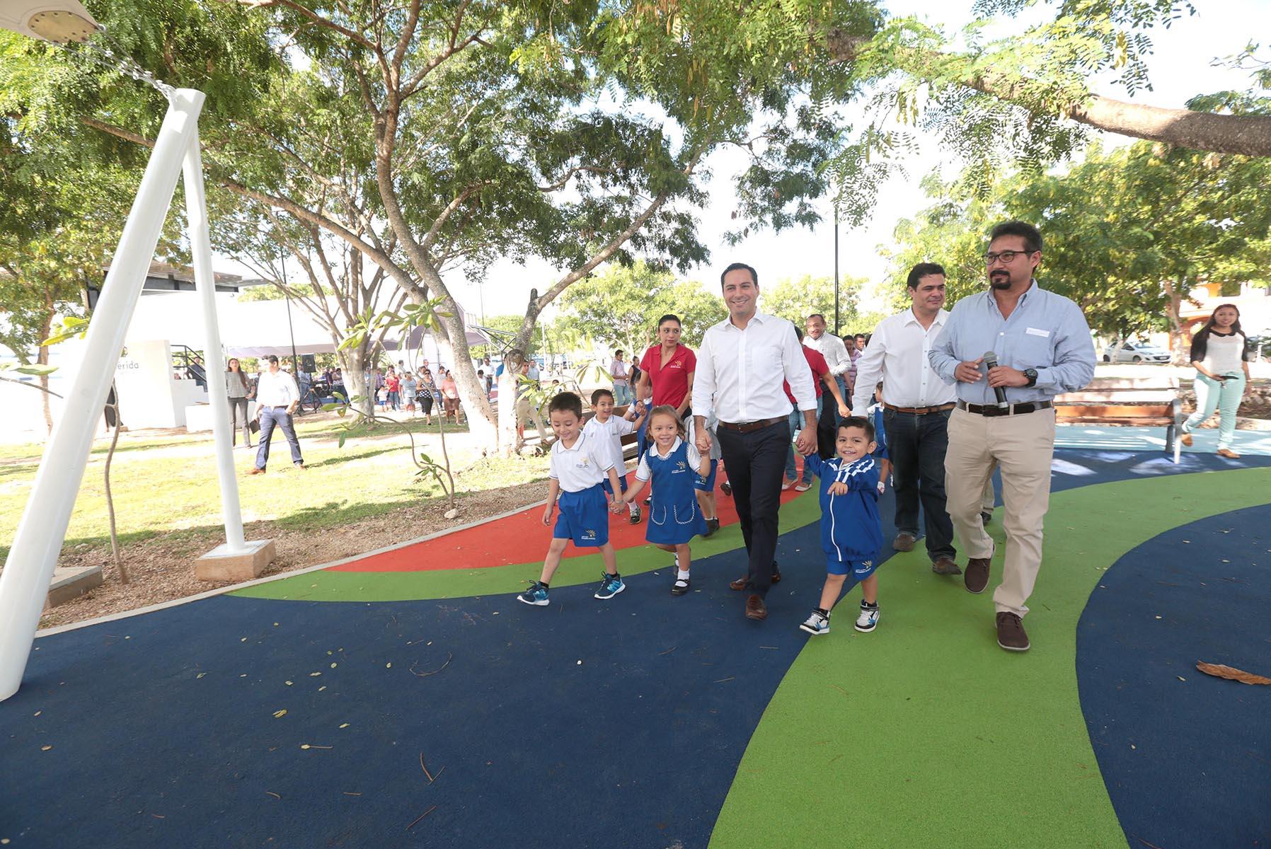 Concluye 1era. etapa de rehabilitación en parque de Francisco de Montejo III