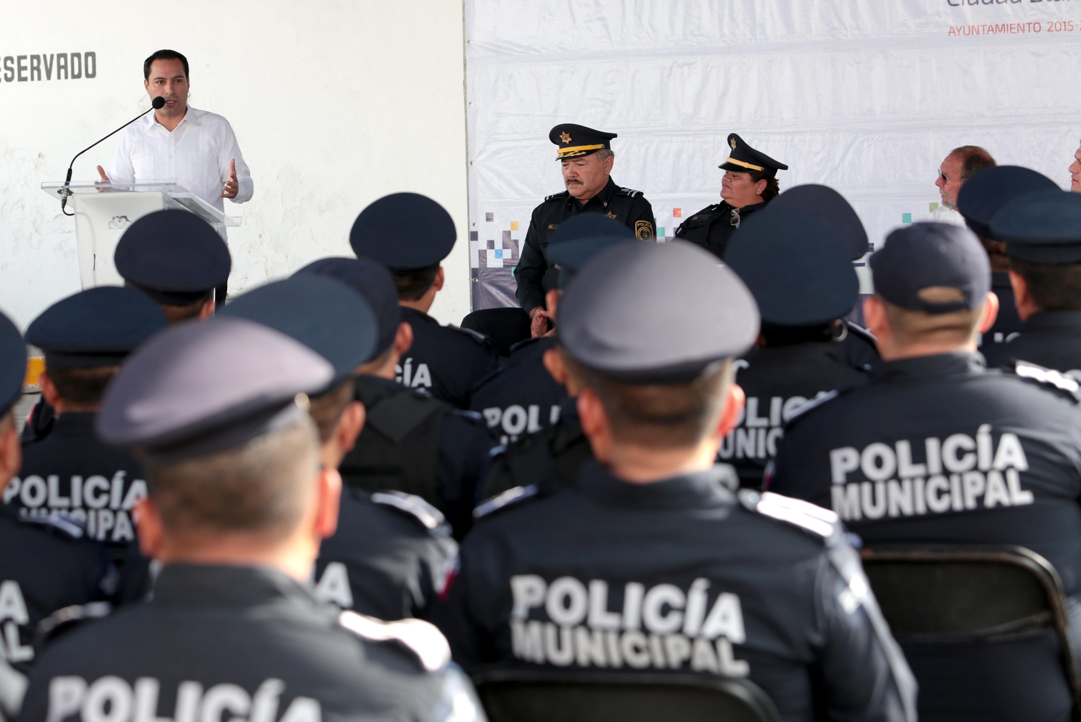 Tendrá Mérida más policías y reforzará equipo y capacitación