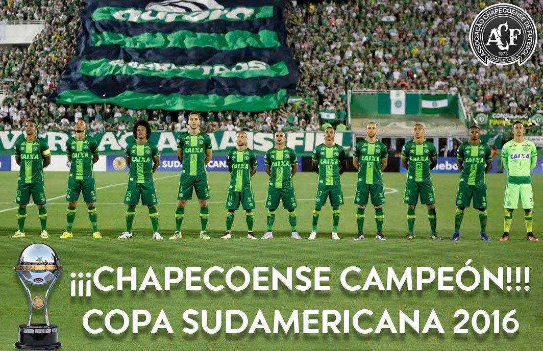 Nombran campeón de la Sudamericana al Chapecoense