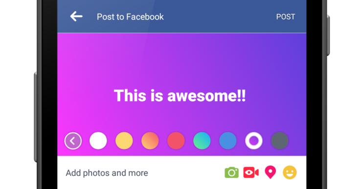 Facebook colorea los estatus