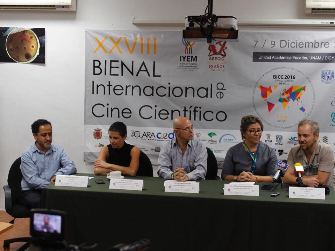 Lista la Bienal de Cine Científico