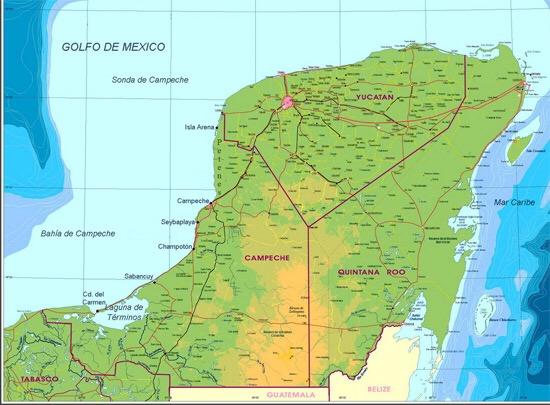 Reavivan lío territorial de QRoo con Campeche-Yucatán