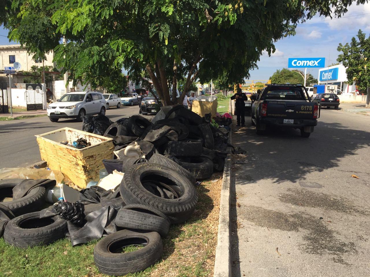 """""""Pillan"""" a infractores que arrojan desechos en vía pública"""