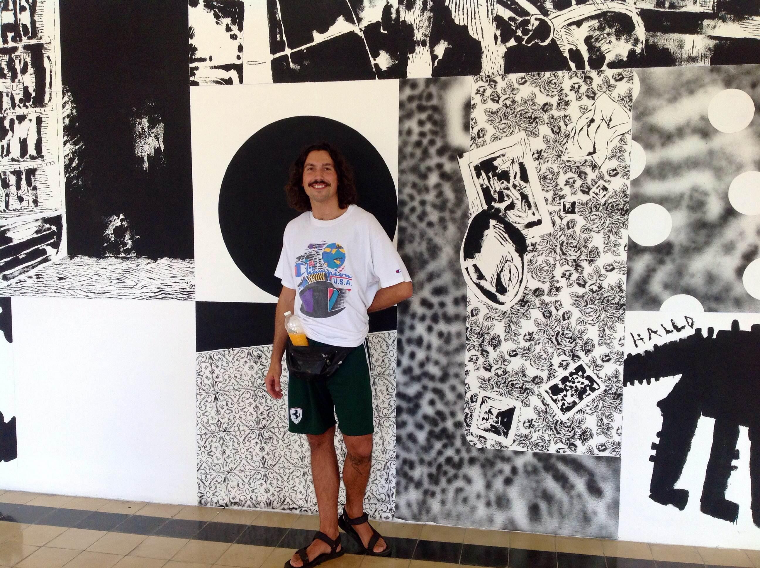 Muralistaaustriaco 'se inspira' en Mérida