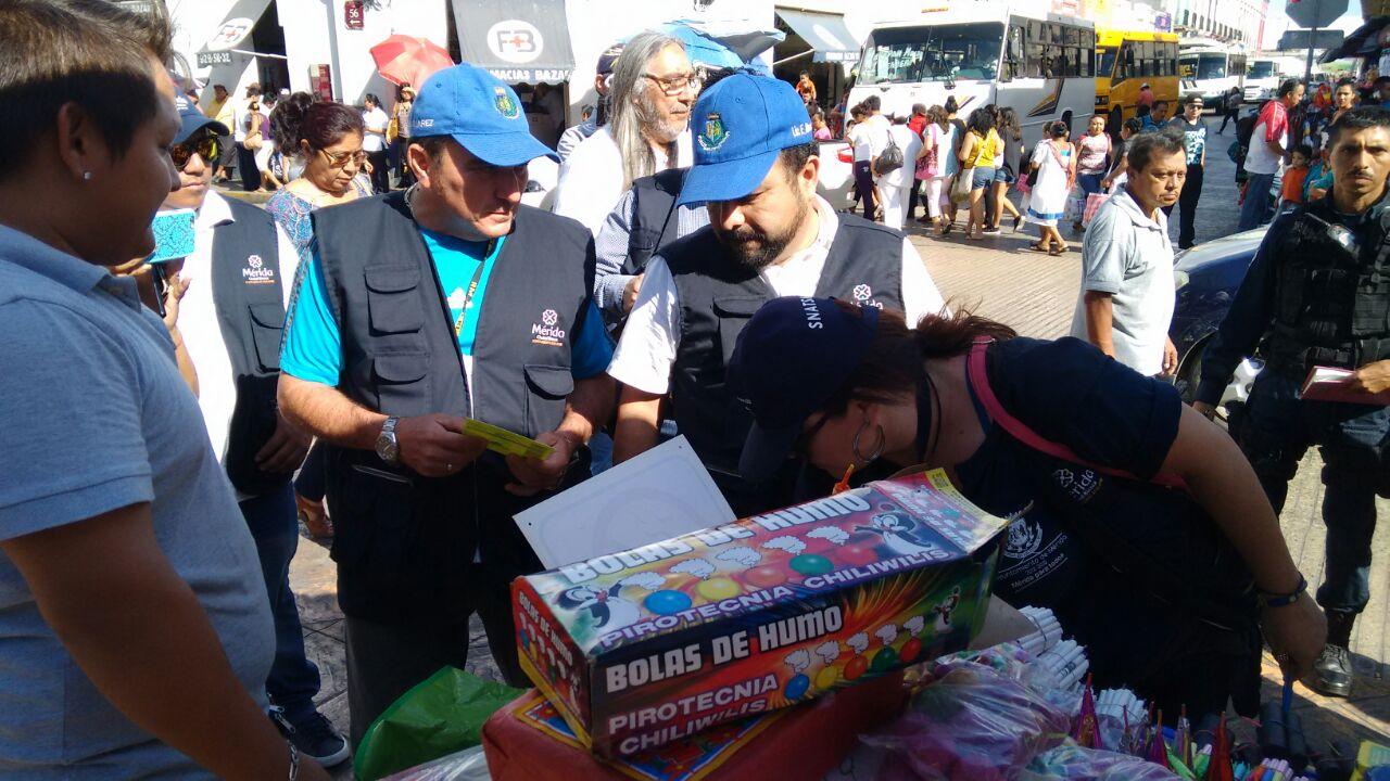 Confiscados en Mérida casi 650 kilos de pirotecnia