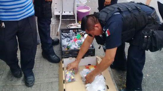 Confiscados casi 160 kilos de pirotecnia en Mérida