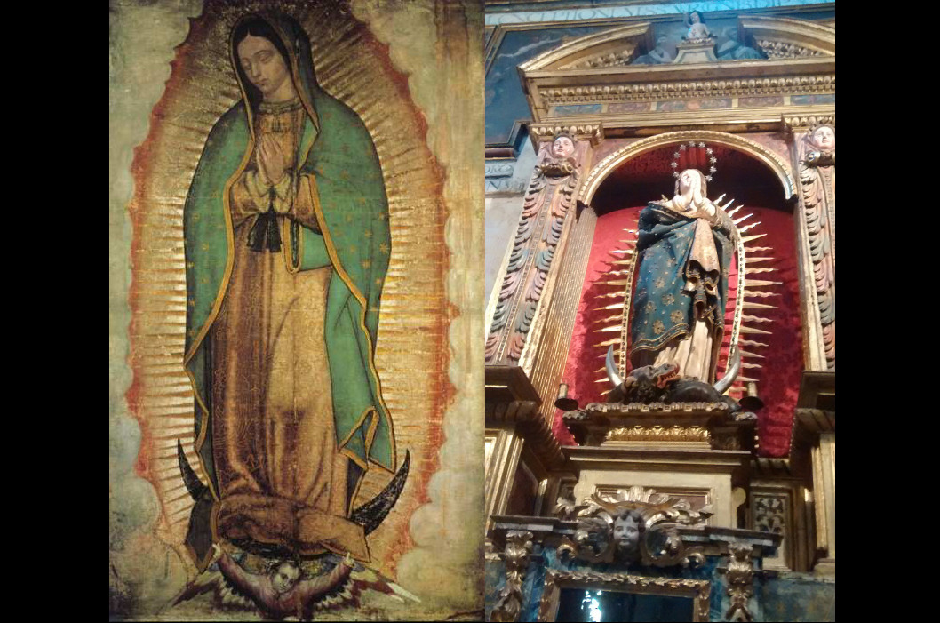 La virgen de Segovia, España, semejante a la Guadalupana