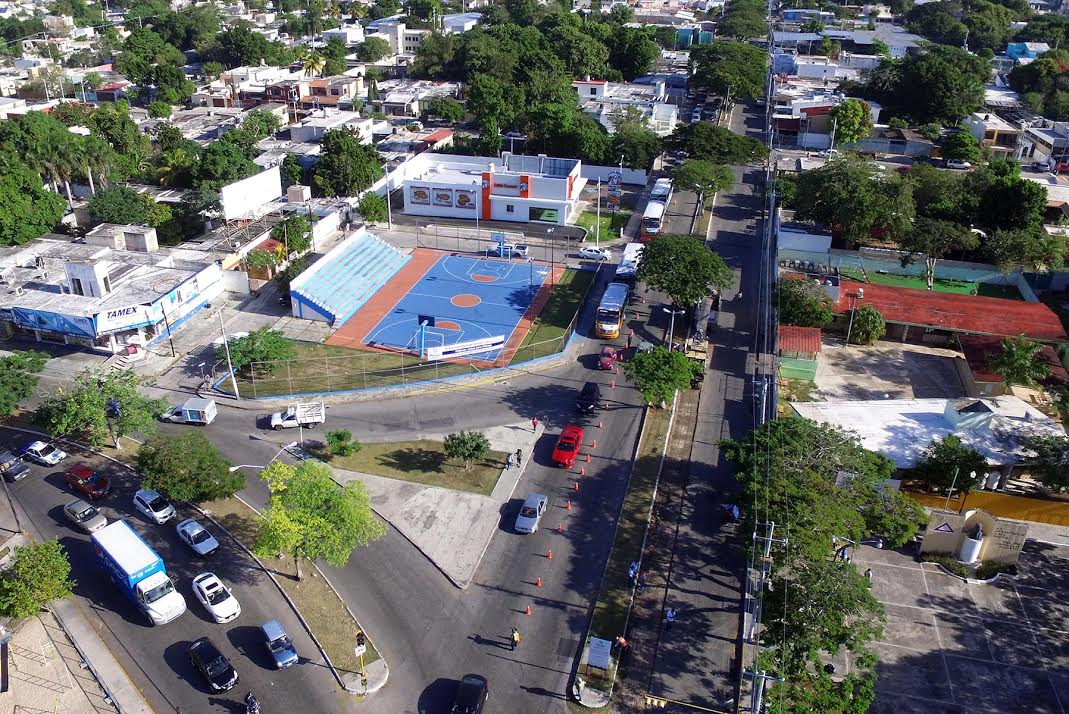 Obras de rehabilitación en Avenida Felipe Carrillo Puerto