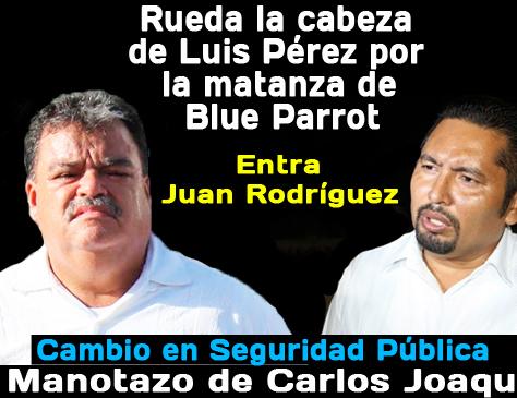 """'Caen' mandos policíacos Playa del Carmen por """"Blue Parrot"""""""