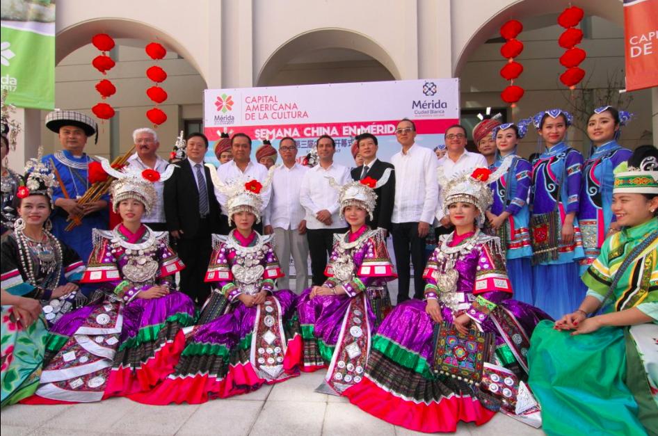 Despliegan colores de Semana de China en Mérida