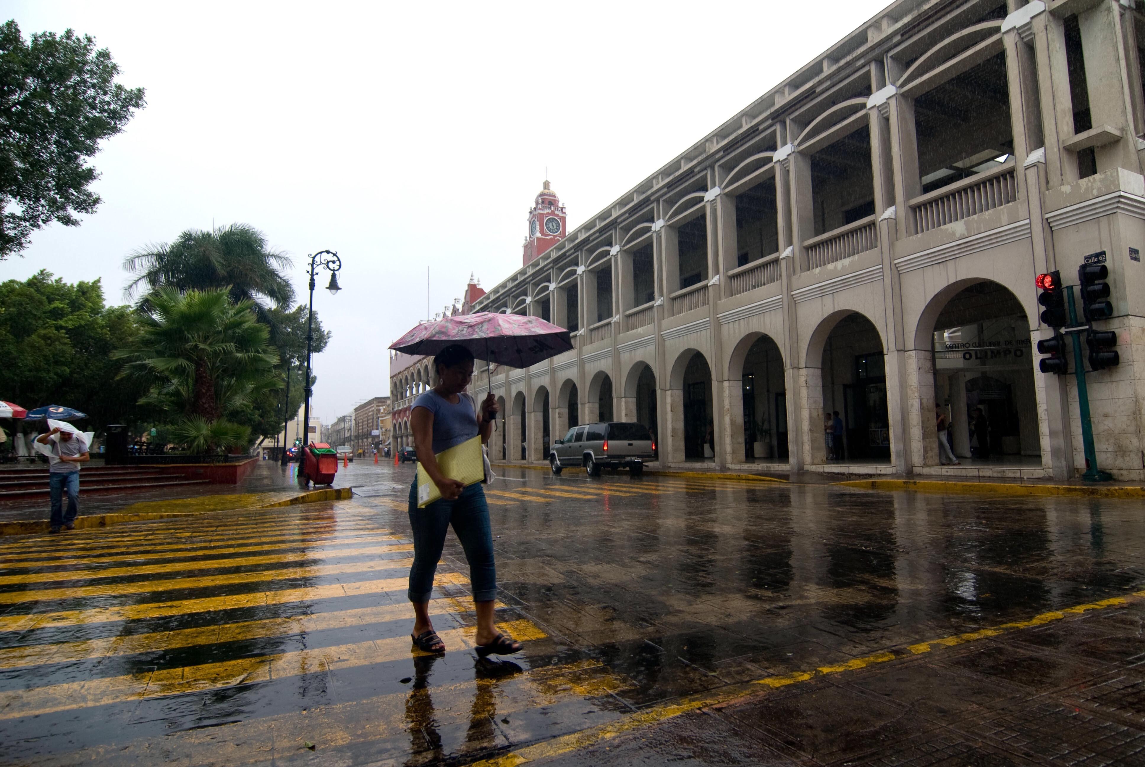 Fugaz 'mal tiempo' en Península de Yucatán