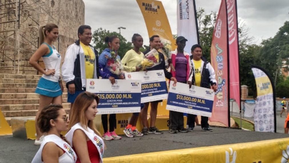 Baten récord en Maratón de Mérida 2017