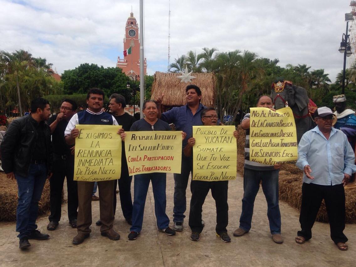 "Se suma PRD Yucatán a protestas contra ""gasolinazo"""