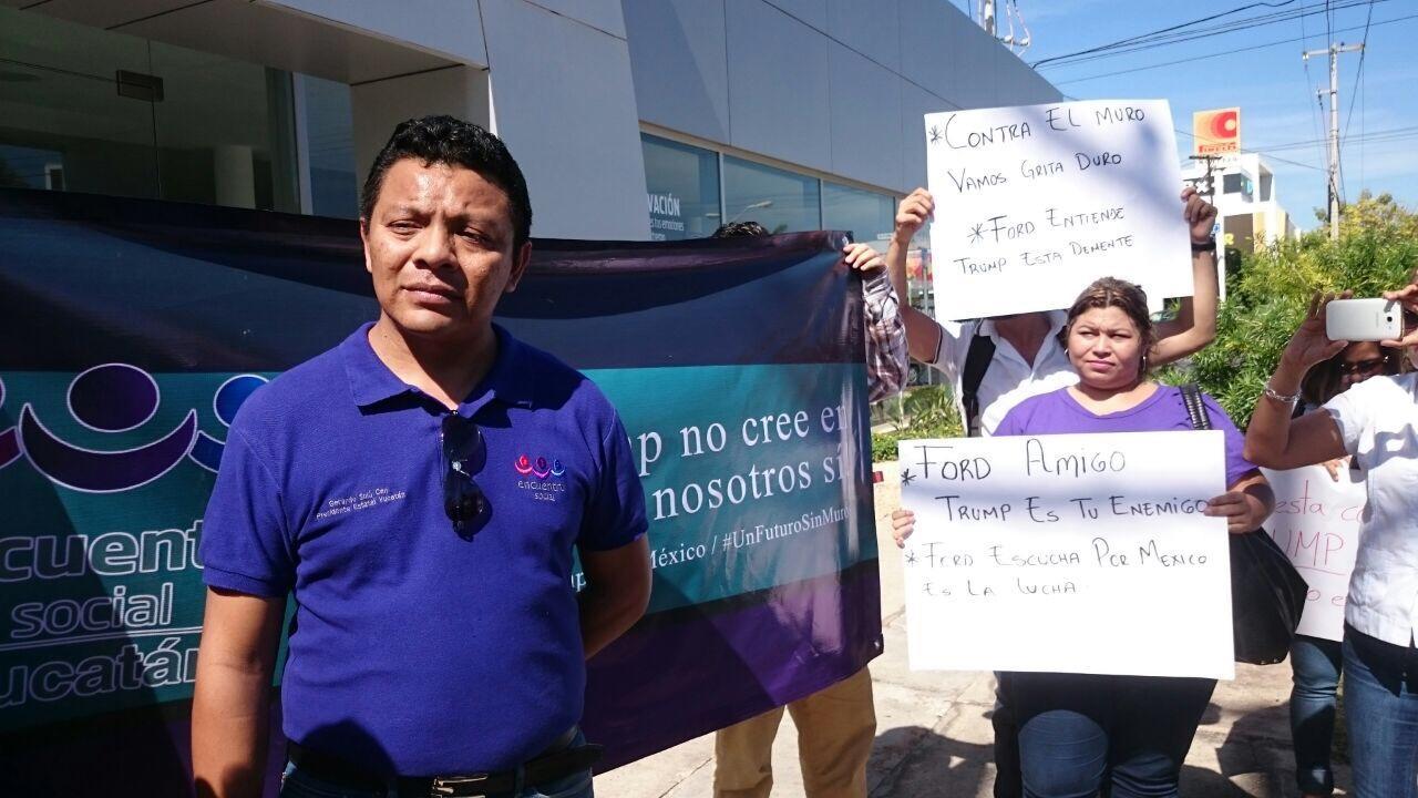 Protestan contra Trump y Ford en capital yucateca