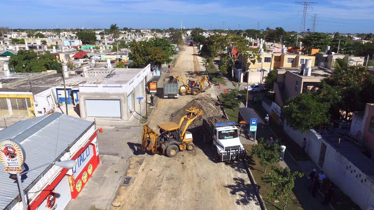 Reconstrucción de Avenida Pedagógica en la colonia Vergel II