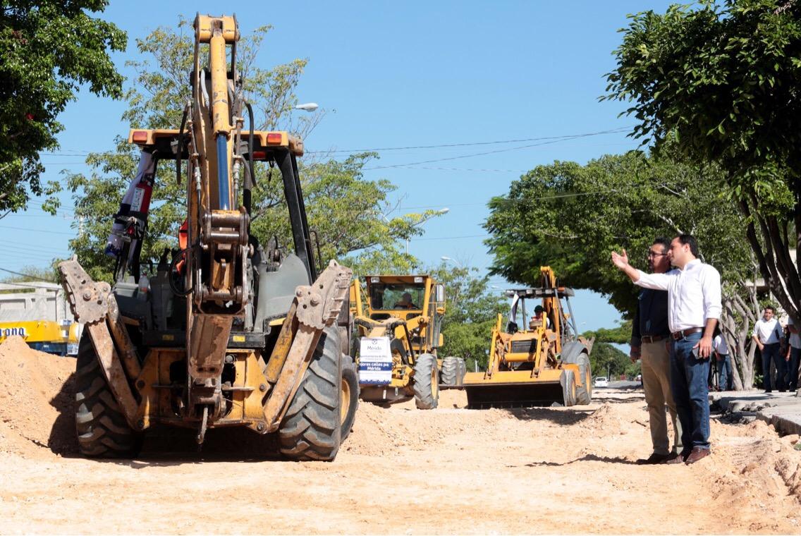 Avanzan obras en avenidas de Mérida